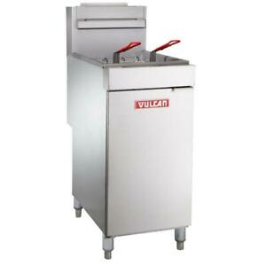 Vulcan 35 40 Lb Galvanized Stainless Steel Natural Gas Floor Fryer 90 000 Btu
