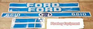 5 Piece Blue Hood Decal Set Replaces D f6610 For Ford New Holland Tractor 6610