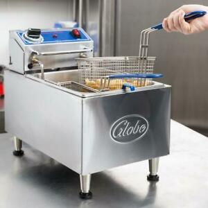Globe 10 Lb Electric Countertop Fryer 120v 1700w