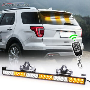 32 13 Led Emergency Traffic Advisor Warning Strobe Light Bar Kit White