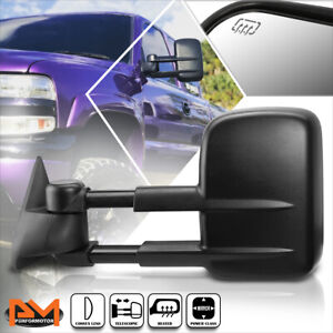 For 99 02 Chevy Silverado Gmc Sierra Power Heated Side View Towing Mirror Left