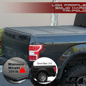 For 2019 2020 Dodge Ram 1500 5 7 Ft Bed Low Profile Hard Tri Fold Tonneau Cover