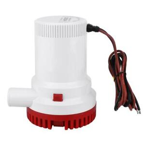 12v Submersible Bilge Pump 1500gph Electric Marine Fishing Boat Yacht Water Pump