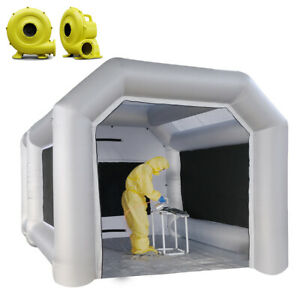 13x10x8ft Inflatable Spray Booth Tkloop Paint Room Spray Tent With Filter System