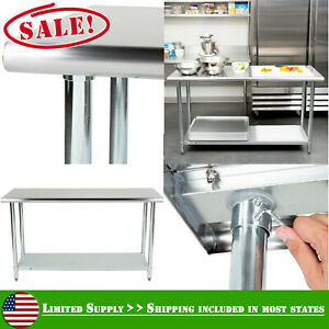 24 X 60 Commercial Kitchen Stainless Steel Work Food Prep Table Undershelf New