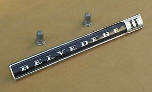 1966 66 1967 67 Plymouth Belvedere Ii Emblem Nameplate 2579893 New