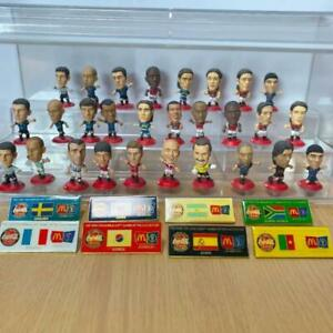 Soccer Football Figure Coca-Cola Pin Badge Set Vintage Rare