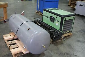 5 Hp Sullair Es 6 Rotary Screw Air Compressor With Tank 4327 Hours Drier