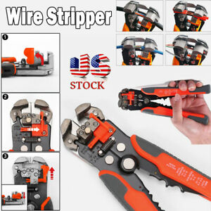 Automatic Wire Cutter Stripper Electrical Cable Crimper Terminal Tool Pliers 8