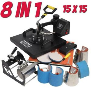 5 In 1 15 X15 Digital Heat Press Machine Sublimation For T shirt Mug D317