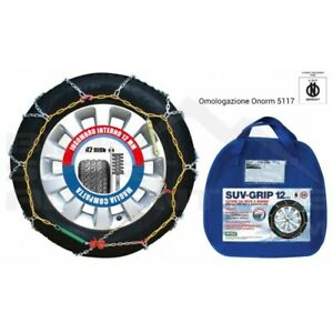Snow Chains Suv Grip 12mm 245 65 17 Homologated