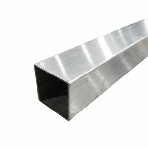 304 Stainless Steel Square Tube polished 1 1 2 X 1 1 2 X 0 065 X 48 Long