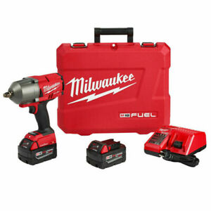 Milwaukee 2863 22 18 Volt 1 2 Inch Friction Ring High Torque Impact Wrench Kit