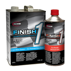 Acme Fc720 1 Ultimate Overall Clearcoat Gallon Kit W Finish 1 Slow Hardener