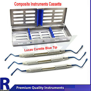 Periodontal Extraction Dental Instrument Cassette Lucas Bone Curettes Set Of 3