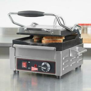 Cecilware Single Panini Sandwich Grill Flat Grill Surfaces 9 5 8 X 9 120v 1800
