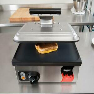 Vollrath Panini Sandwich Press Smooth Non Stick Plates 13 5 16 X1 2 3 16 120v