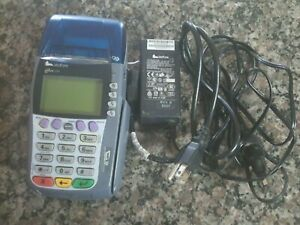 Verifone Omni 3750 Credit Card Terminal Used W Box And Power Cord