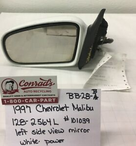 Used Vintage Chevrolet Malibu 1997 Left Side View Mirror drivers Quality