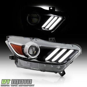 2015 2017 Ford Mustang Hid xenon Led Tube Projector Headlight Headlamp passenger