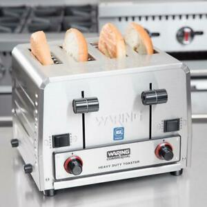 Waring Heavy Duty Switchable Bread Bagel 4 slice Commercial Toaster 240v 2700w