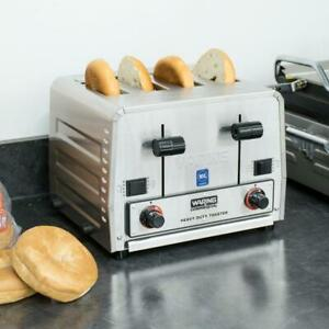 Waring Heavy Duty Switchable Bread Bagel 4 slice Commercial Toaster 120v 1800w