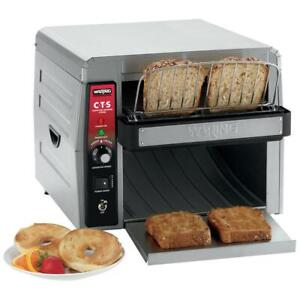 Waring Commercial Conveyor Toaster With 2 Opening 120v 1800w 450 Slices hour