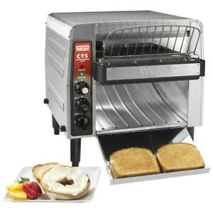 Waring Commercial Conveyor Toaster With 2 Opening 208v 2700w 1 000 Slices hr