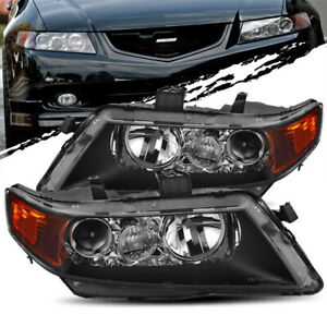 For 04 05 Acura Tsx Black Projector Headlights Assembly Replacement Left right