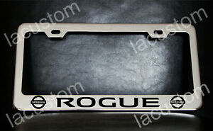 Nissan Rogue License Plate Frame Custom Made Of Chrome Plated Metal