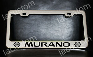 Nissan Murano License Plate Frame Custom Made Of Chrome Plated Metal