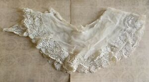 Beautiful Antique Fine Lace Netting And Trim Piece 9 Perfect For Dolls