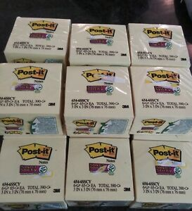 Post It Sticky Notes Yellow Lot Of 15 6pks 3x3 Total 5 850 Super Sticky Post Its