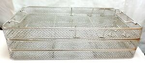 Lot 3 Stainless Steel Sterilization Tray Basket Arthroscopy Endoscopy Instrument