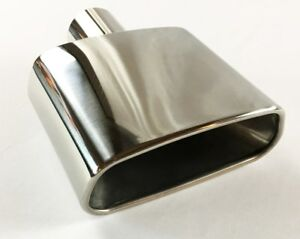 Exhaust Tip 7 25 X 3 00 Outlet 8 50 Long 2 25 Inlet Rolled Rectangle W300775