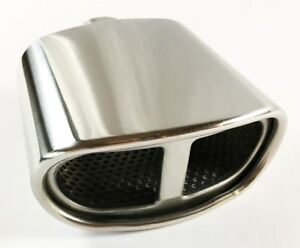 Exhaust Tip 2 25 Inlet 5 50 X 3 00 High 7 00 Lg Double Wall Rolled Oval Split