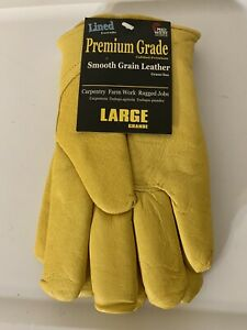 New Thermalock Lined Top Grain Leather Work Gloves 660tk Nwt