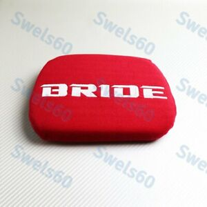 Red Tuning Pad For Head Rest Cushion Bucket Seat Racing New Jdm Bride Racing 1pc