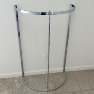 Commercial Grade Chrome half Round Clothing Rack Used