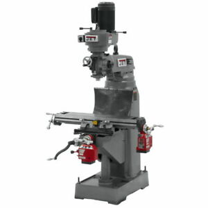 Jet 690175 Jvm 836 3 Mill With X And Y axis Powerfeeds