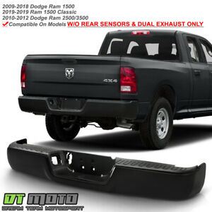2009 2018 Dodge Ram 1500 10 12 2500 3500 Complete Black Rear Bumper Assembly