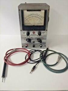 Vintage Rca Voltohmyst 195 a Electronic Voltmeter Ohm Meter W Probes And Ground