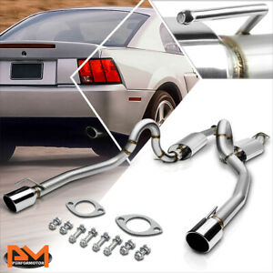 For 96 04 Ford Mustang Gt V8 Dual 4 Oval Tip Muffler S s Catback Exhaust System