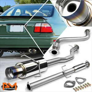 For 94 97 Honda Accord Dx Ex Lx Se 4 5 Burnt Tip Muffler Racing Catback Exhaust