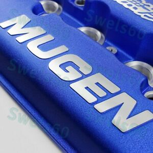 For Mugen Style Engine Valve Cover For 1999 2000 Honda Civic Si Dohc Vtec Blue