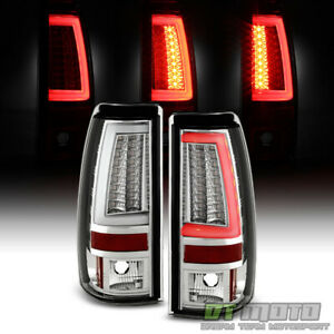 2003 2006 Chevy Silverado 1500 Led Light Tube Tail Lights Brake Lamps Left right