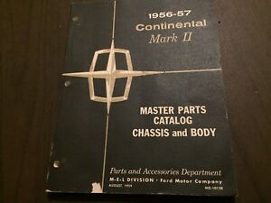 1956 1957 Lincoln Mark 2 Parts Book Nos Mint