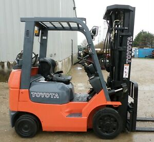 Toyota Model 7fgcu20 2004 4000 Lbs Capacity Great Cushion Tire Forklift