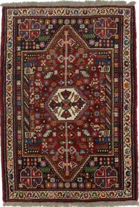 Tribal Nomadic Design Small 4x5 Wool Hand Knotted Area Rug Oriental D Cor Carpet