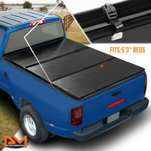 Aluminum Frame Hard Tri fold Tonneau Cover For 04 12 Colorado canyon 5 3 Bed